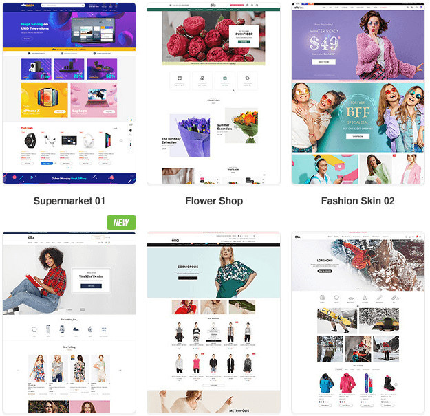 Ella Shopify Theme Skins
