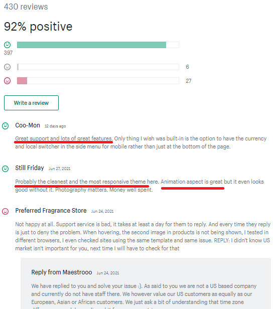 Prestige Theme User Reviews