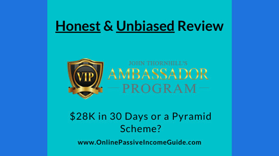 Honest John Thornhills Ambassador Program Review