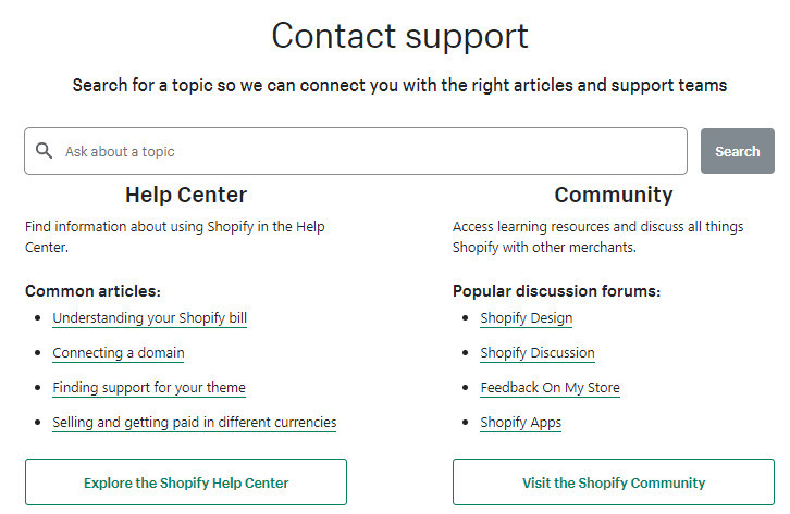 Shopify Support for Beginners