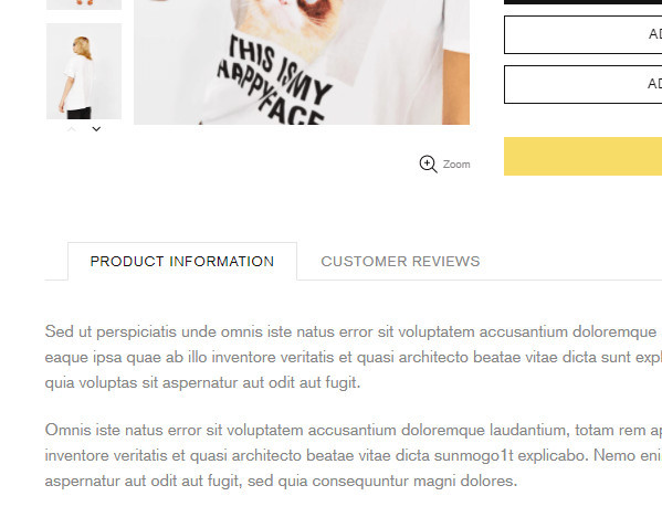 Shella Theme Product Page Tabs