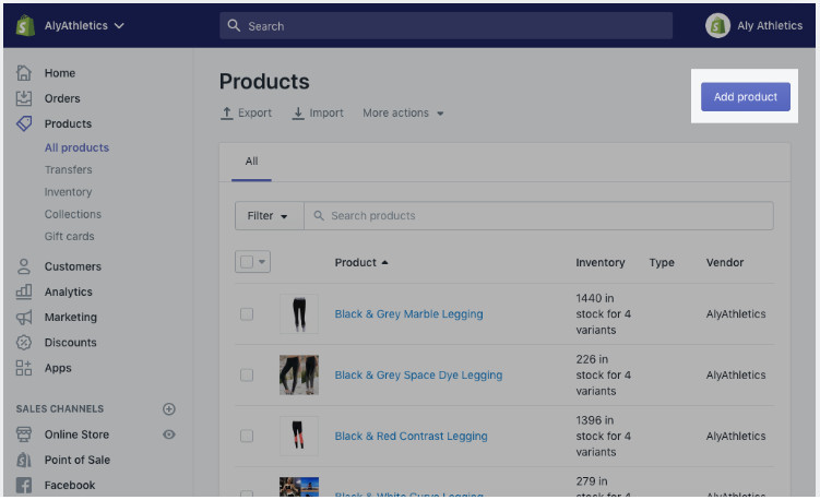 Add Products To Shopify 14-Day Free Store