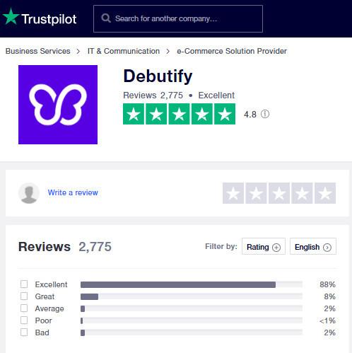 Debutify Trustpilot Reviews