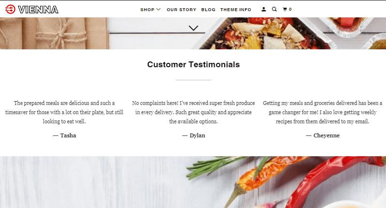 Parallax Theme Customer Testimonials