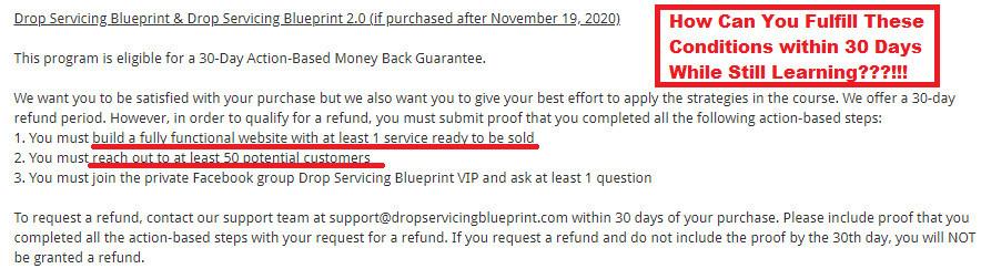 Drop Servicing Blueprint Refund