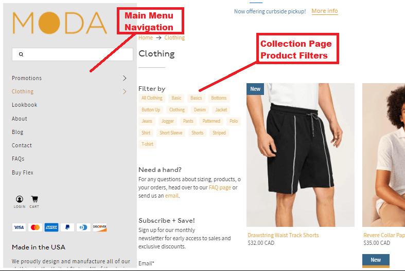 Shopify Flex Theme Sidebar Menu Filter