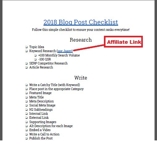 Using Checklists For Affiliate Marketing