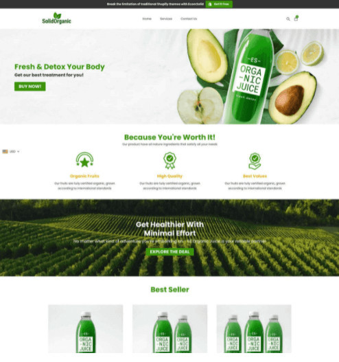 EcomSolid Grocery Store Shopify Theme