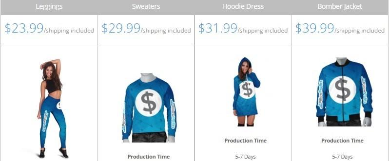 Print On Demand Leggings, Sweaters, Hoodie Dress, Bomber Jacket