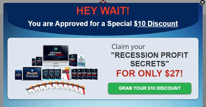 Recession Profit Secrets Discount