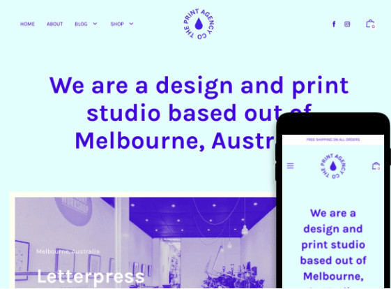 Editorial Shopify Art Studio Theme