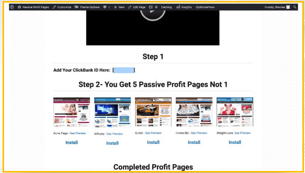 What Is Passive Profit Pages