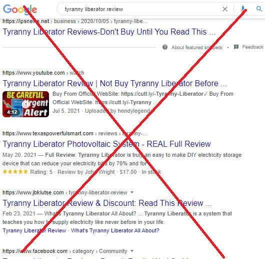 Tyranny Liberator Fake Reviews