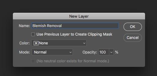 Naming new layer