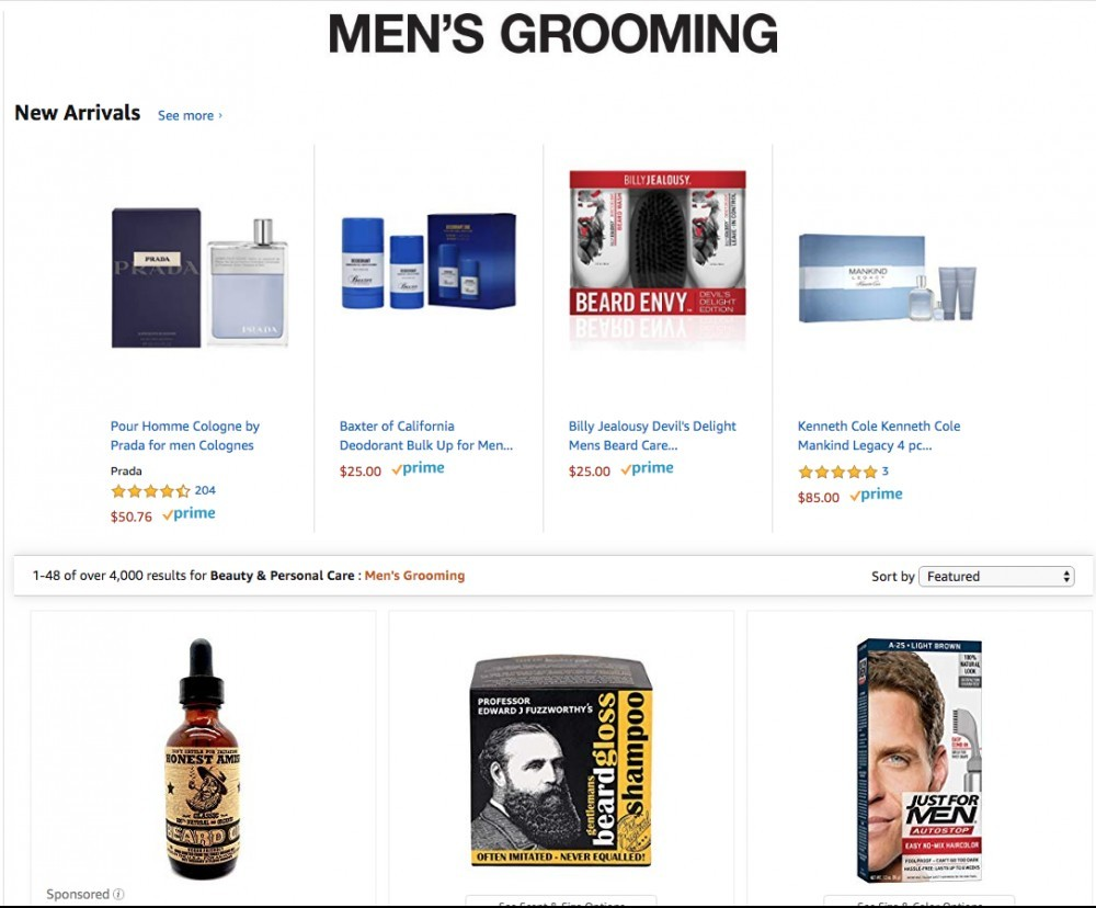 men's grooming amazon