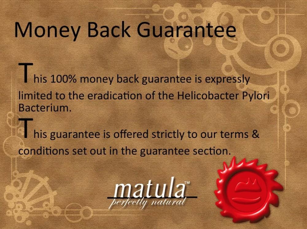 money back guarantee matula tea