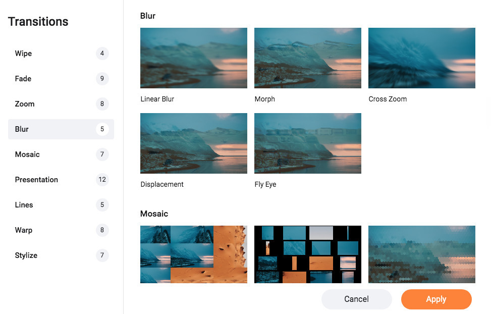 FlexClip Video Maker Review - Adding Transitions