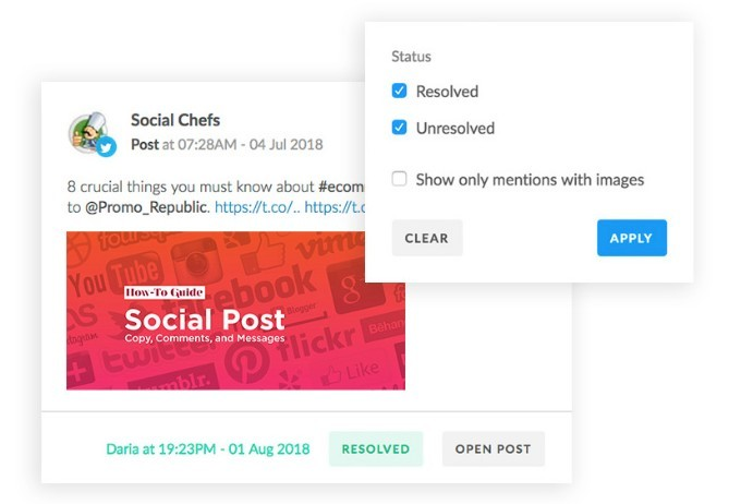 PromoRepublic Social Monitoring