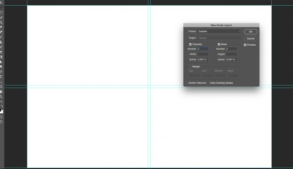 New guide layout in Photoshop