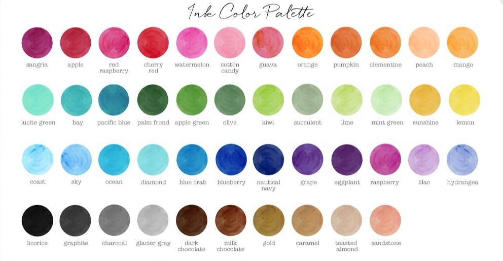 Wedding Color Ideas - Ink Color Palette