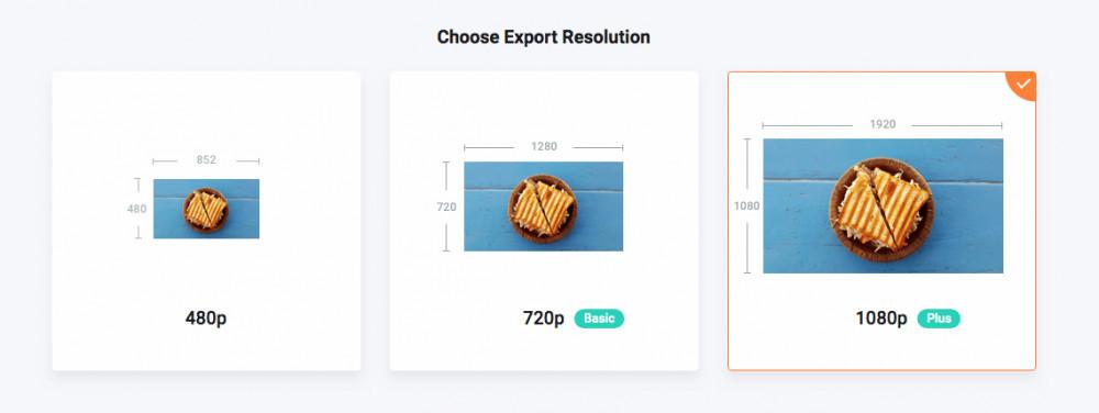 FlexClip Video Maker - Choosing Resolution