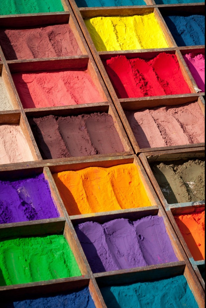 clay in many different colors