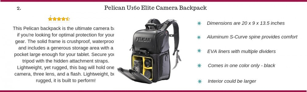 Pelican U160 Elite camera backpack