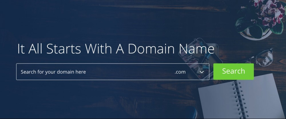 Bluehost's Pricing Plans & Review - Domain Search Bar