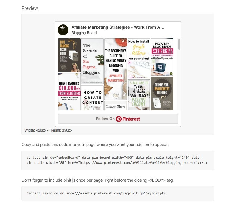 What Is A Pinterest Widget - Work From Home Board