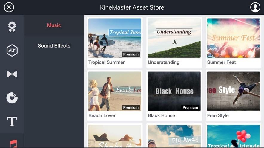 KineMaster asset store music