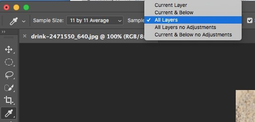 sample layers in Photoshop