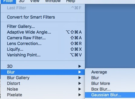 Gaussian Blur Photoshop Tutorial - Blur Filter