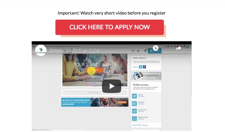 American Online Jobs - Registration Video