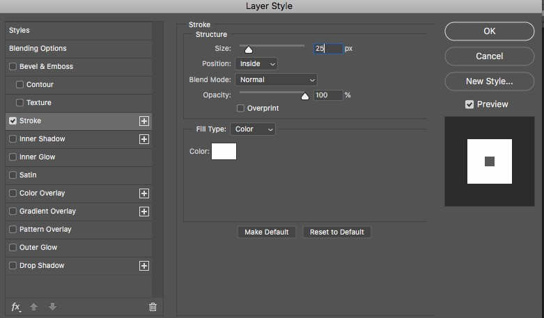 stroke settings in photoshop