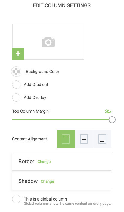 How To Create A Popup - Column Settings