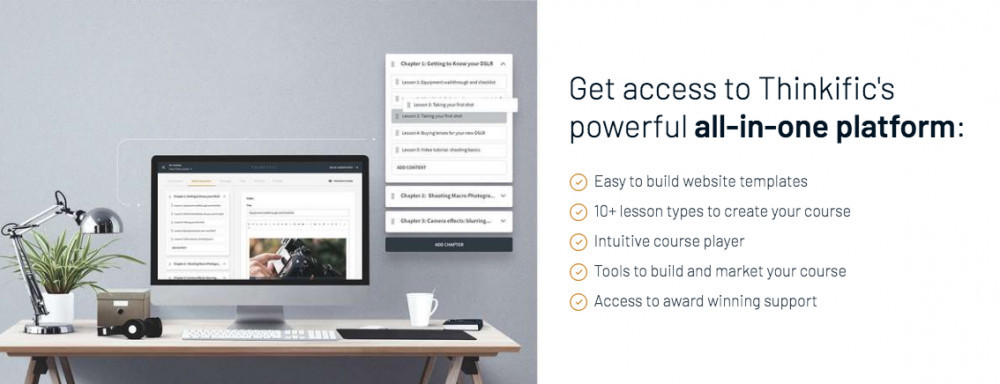 Thinkific Online Courses - List of Benefits
