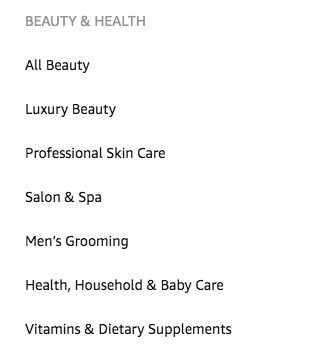 beauty and health category on amazon