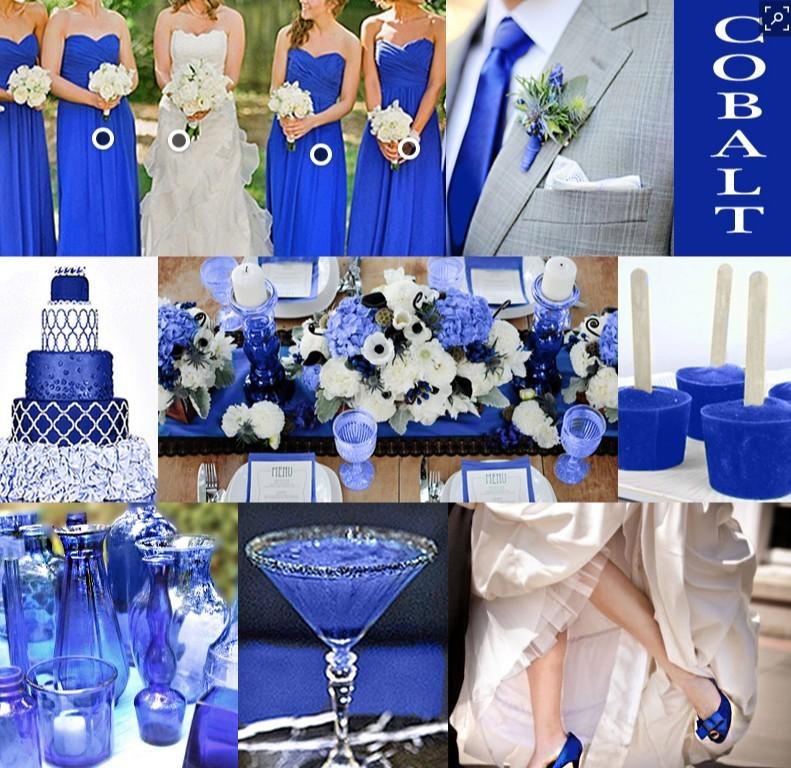 Wedding Color Ideas - Royal Blue Color Scheme