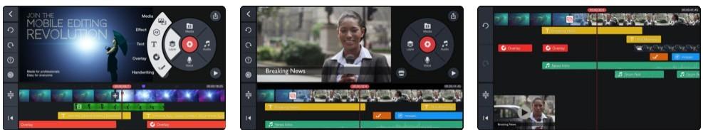 KineMaster phone video editing softward screenshots