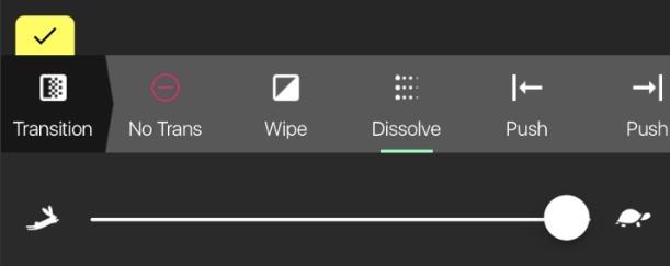 Pocket Video transistion options