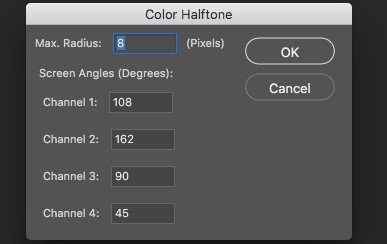 color halftone in photoshop