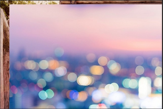 colored bokeh in photoshop