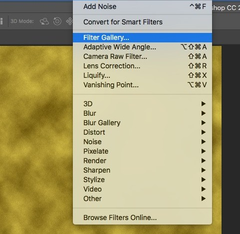 filter and filter gallery in photoshop