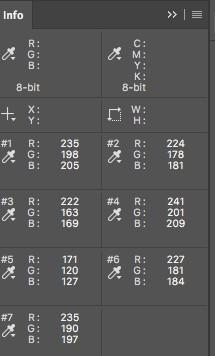 info box for color sampler tool