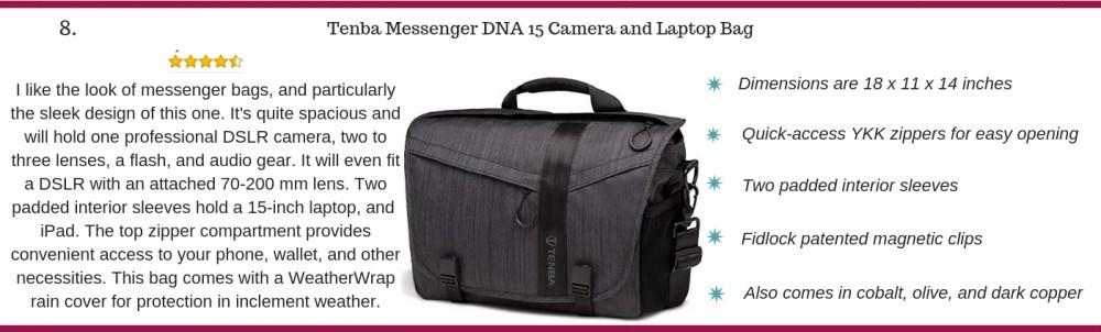 Tenba messenger DNA camera bag