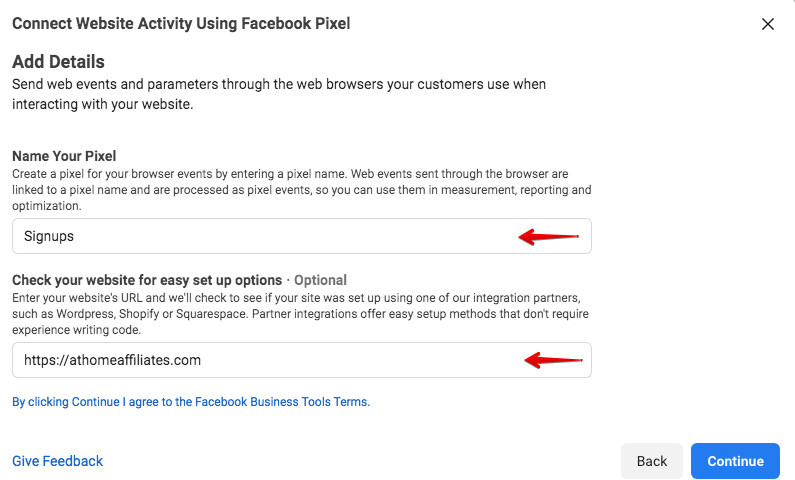 How To Install A Facebook Pixel - Details
