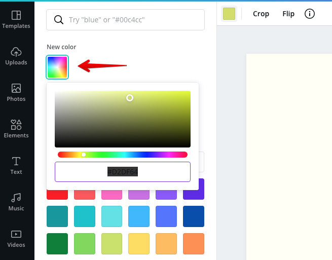 How To Create A Logo In Canva - Color Wheel