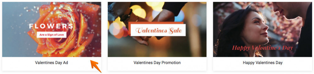 FlexClip Video Maker Review - Valentine's Day Ad Template