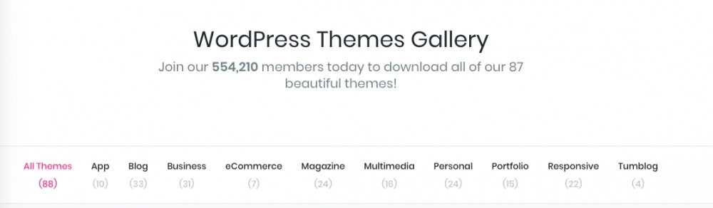 elegant theme categories