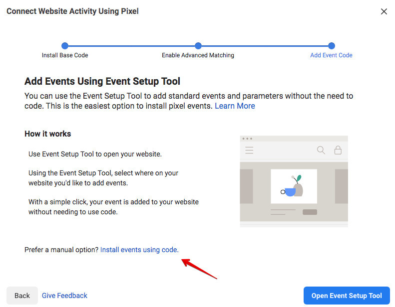 How To Install A Facebook Pixel - Event Setup Tool